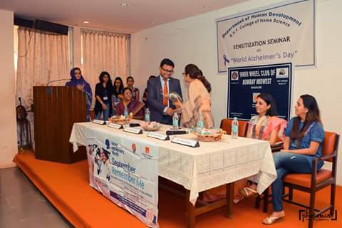 Receiving Felicitation - SNDT College